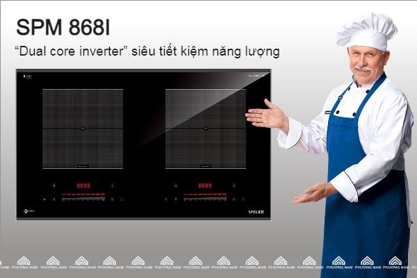 Bếp từ đôi SPM 868I siêu thiết kiệm điện
