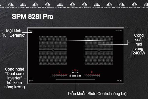 Đặc điểm của Bếp từ đôi Spelier SPM 828I Pro