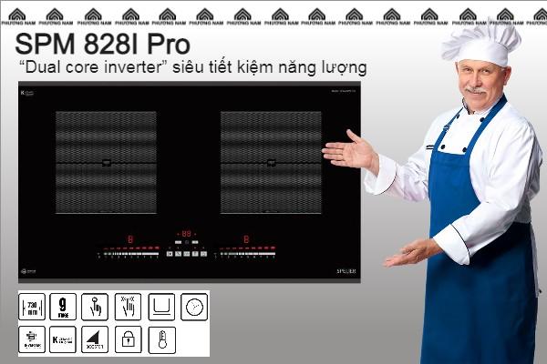 Bếp từ đôi Spelier SPM 828I Pro - tiết kiệm điện