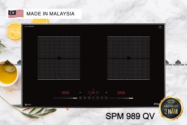 Bếp từ đôi SPELIER SPM 989 QV giá rẻ tại Bếp Phương Nam