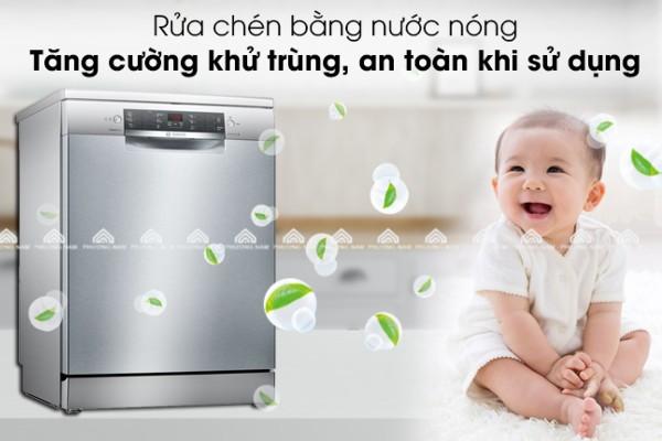 Tính năng rửa nước nóng của máy rửa bát âm tủ