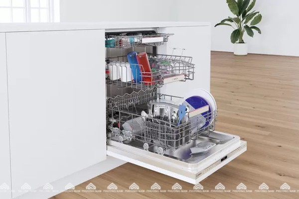 Khoang rửa bát của máy rửa bát âm tủ