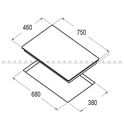 Kích thước mặt kính & khoét đáBếp Từ Eurosun EU-T897G