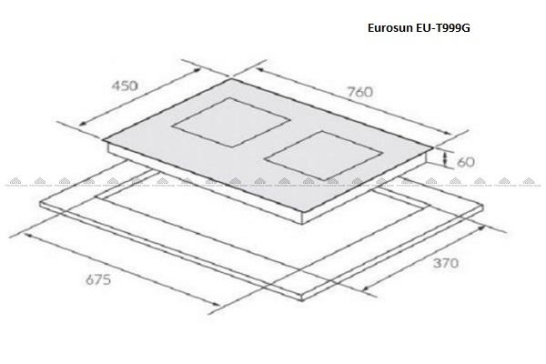 Kích thước bếp từEurosun EU-T999G