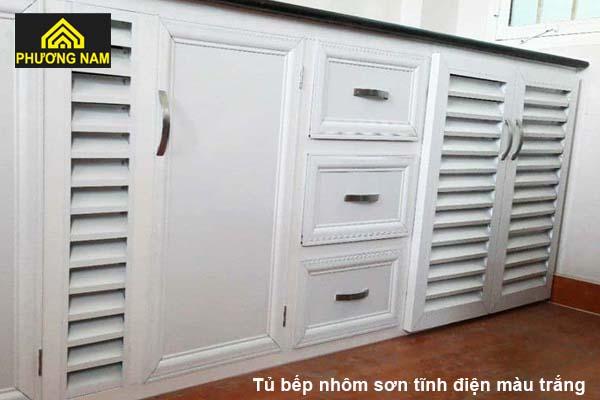 Tủ bếp nhômsơn tĩnh điện
